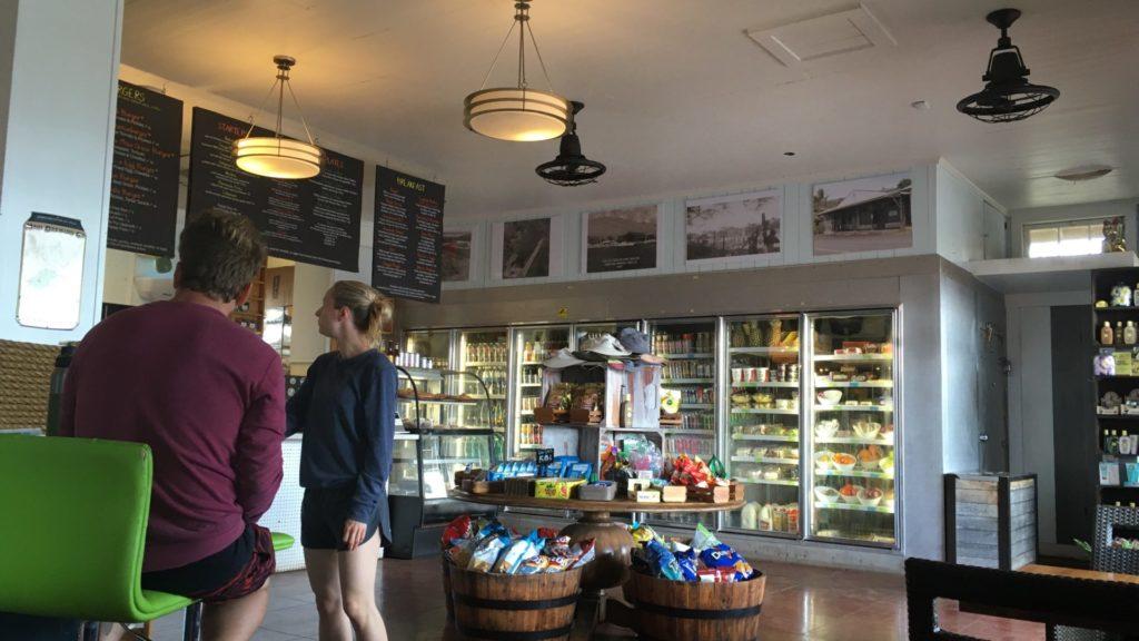 マウイ島マアラエア地区で立ち寄ったカフェ内の写真