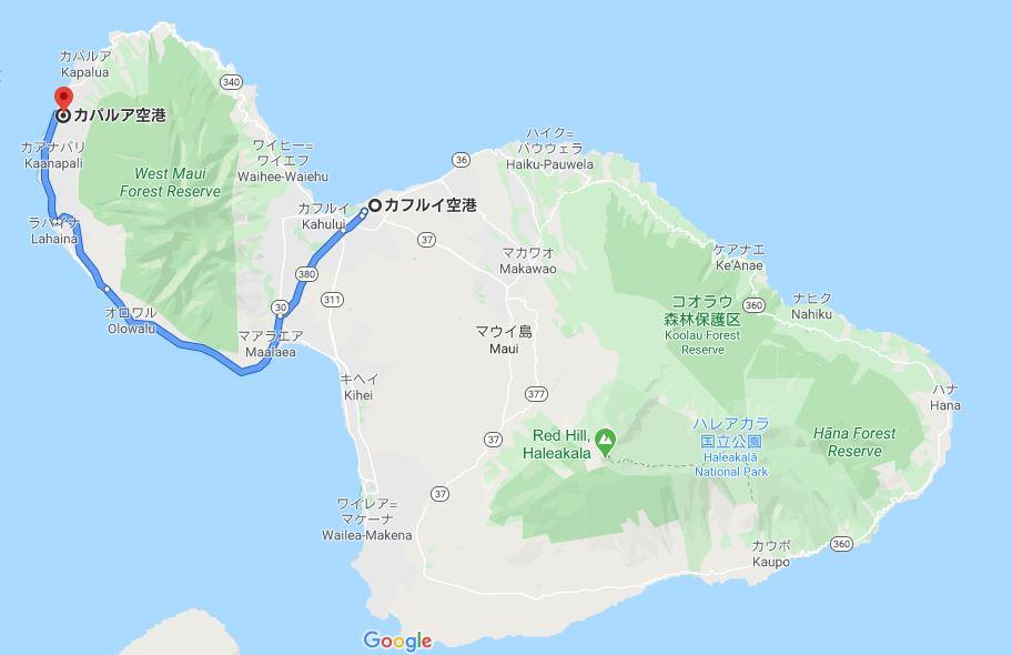 google map マウイ島の写真